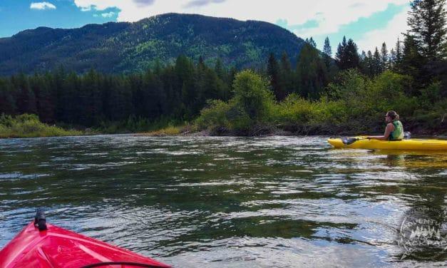 Kayaking Glacier National Park