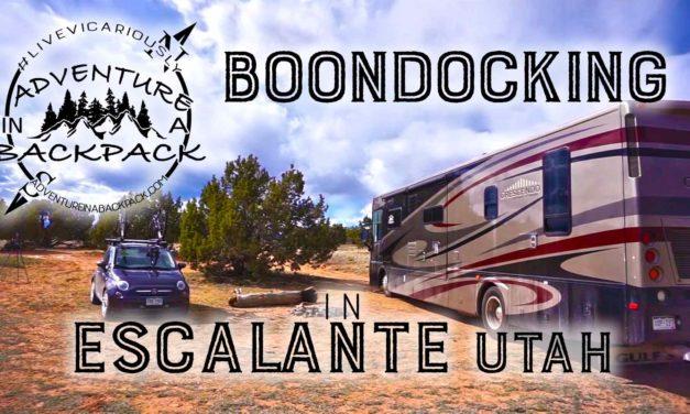 Boondocking in Escalante Utah