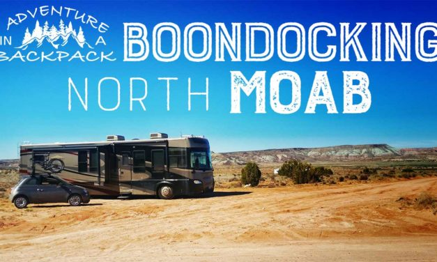 Boondocking in Moab Utah