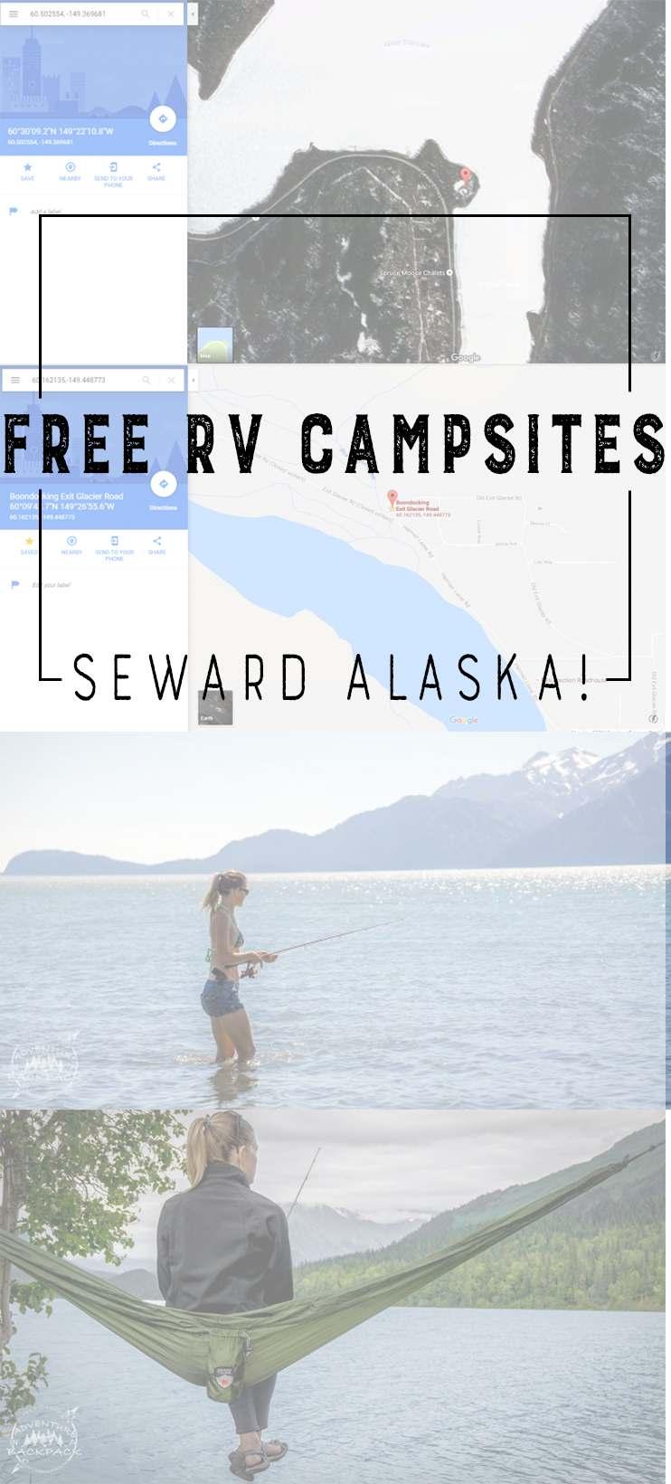 Boondocking in Seward Alaska | RV Boondocking | Free Campsites | Seward Alaska | Free places to camp in Alaska | Boondocking Campsites in Seward Alaska | #boondocking #freecamping #campingalaska