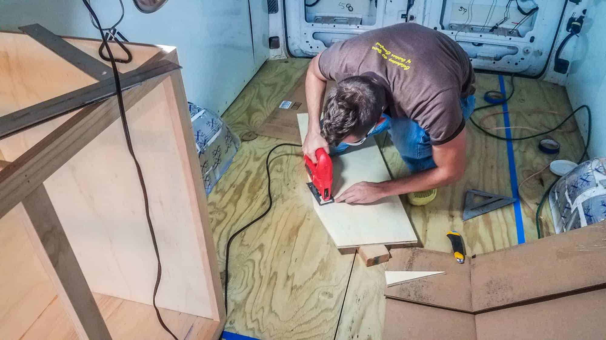 Building Camper Cabinets-2