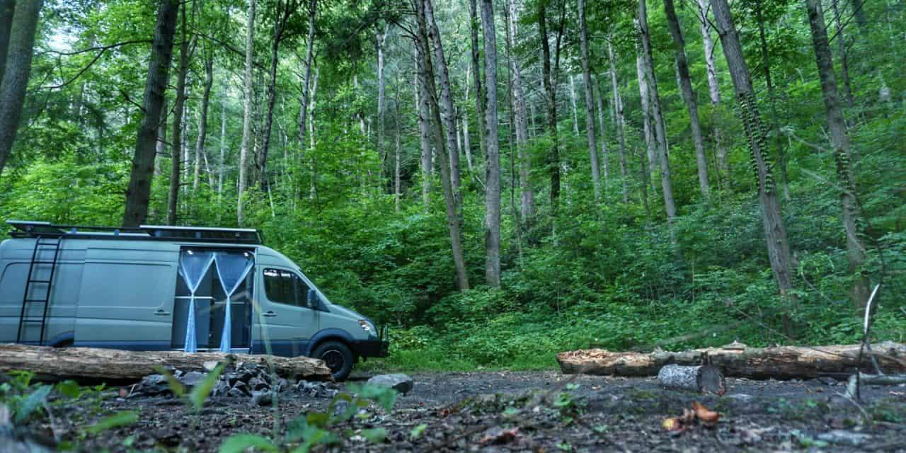 Boondocking Campsite Paint Creek Tennessee