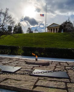Eternal Flame at the Kennedy grave sites.