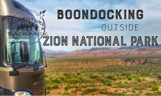 Boondocking Near Zion National Park