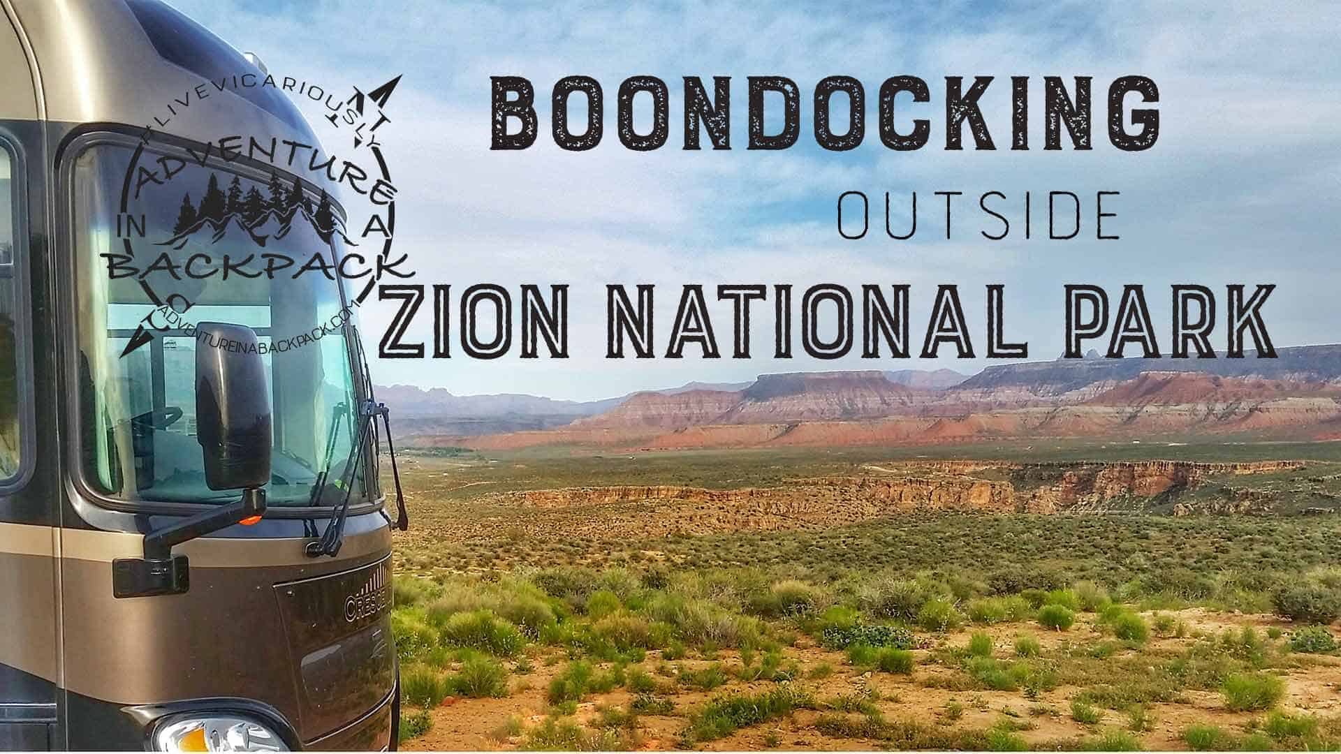 Boondocking Near Zion National Park