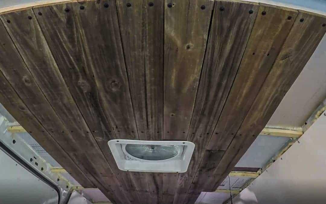DIY Campervan Build: Installing Ceilings