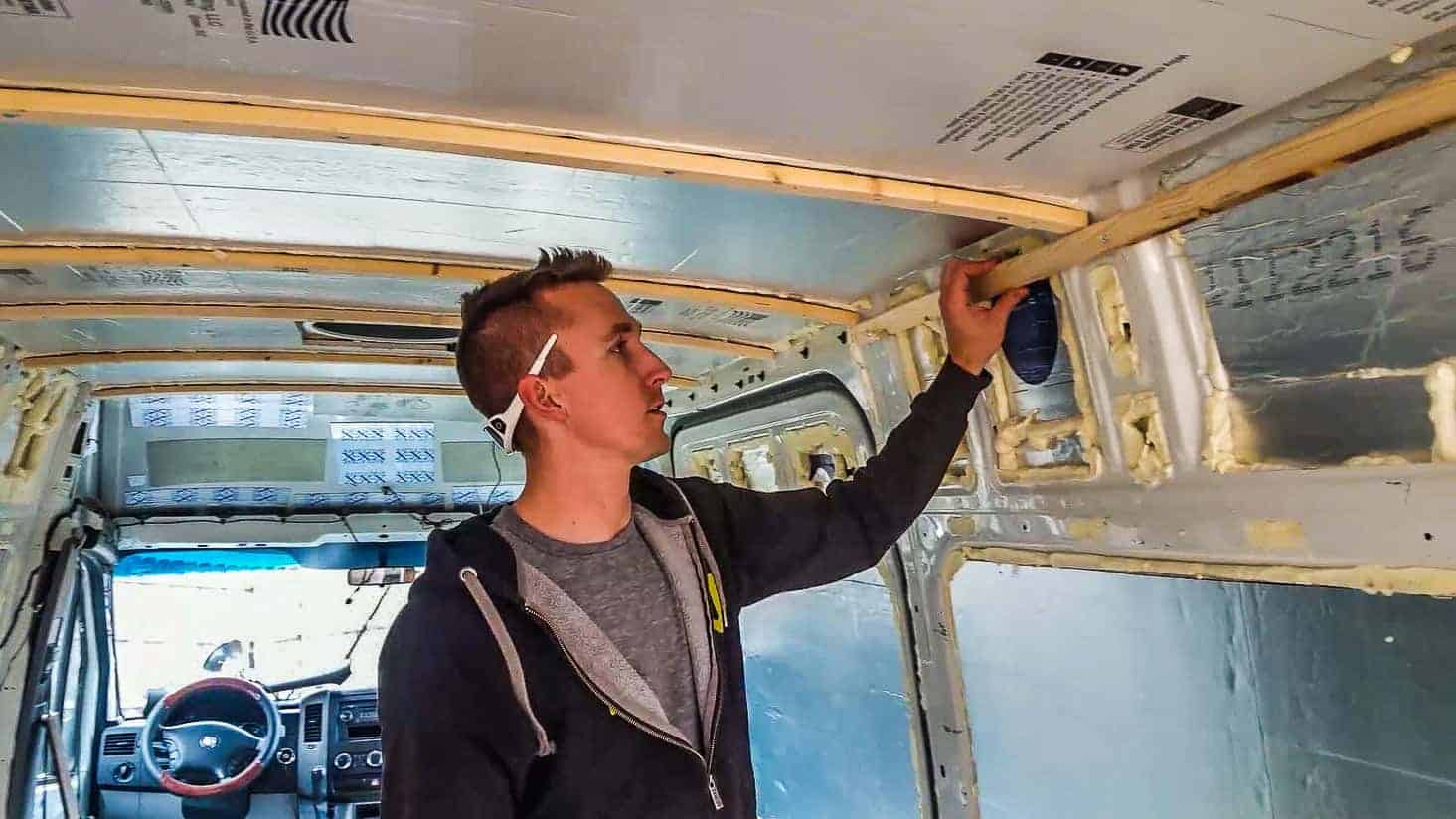 Installing Walls in our DIY Campervan-2