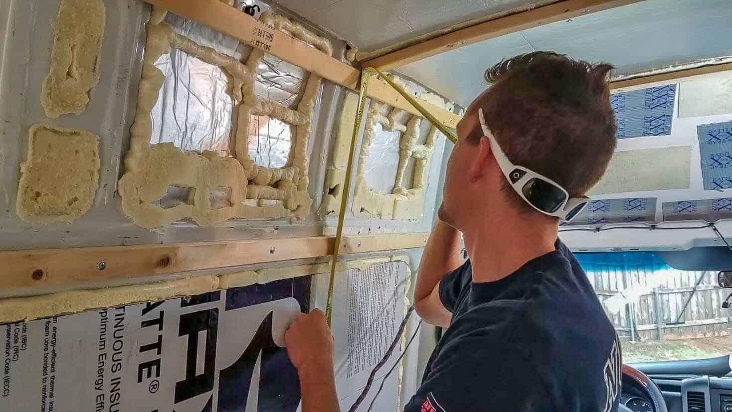 Installing Walls in our DIY Campervan-3