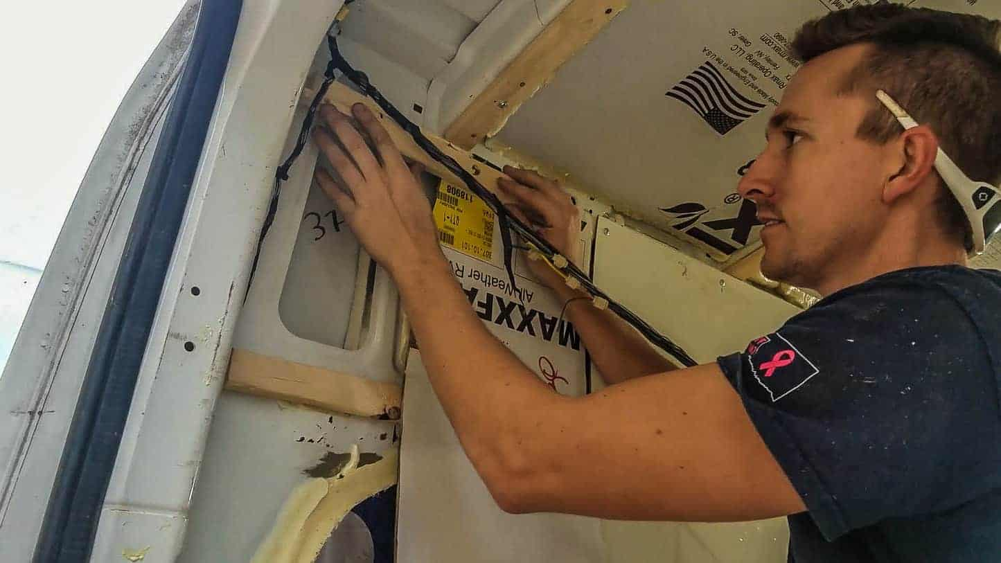 Installing Walls in our DIY Campervan-7