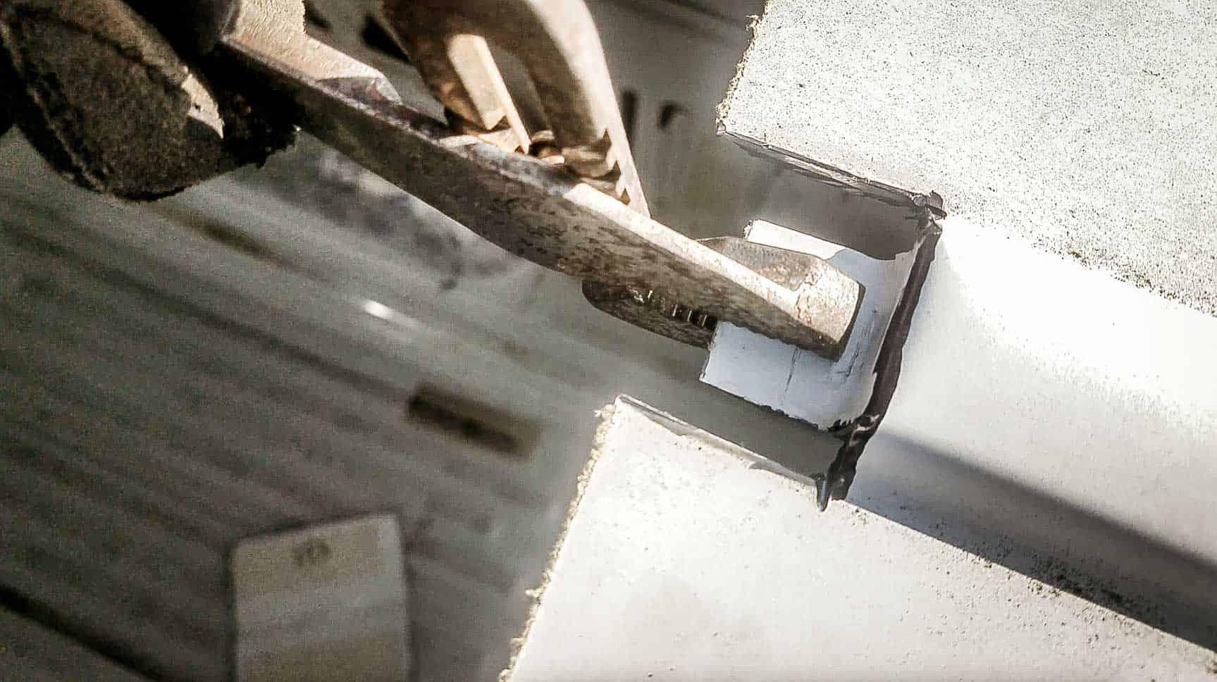 Installing roof vent on campervan-11