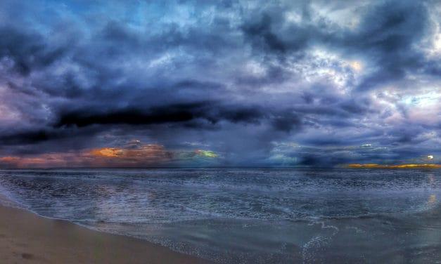 Moody Sunset over Playa Popoyo in Nicaragua