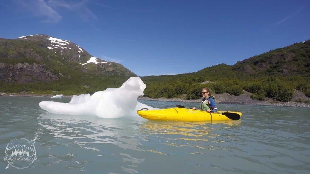 Kayaking Portage Glacier