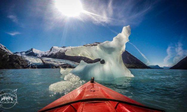 Kayaking to Portage Glacier