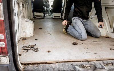 How to Prep A Campervan Floor for a DIY Campervan Build