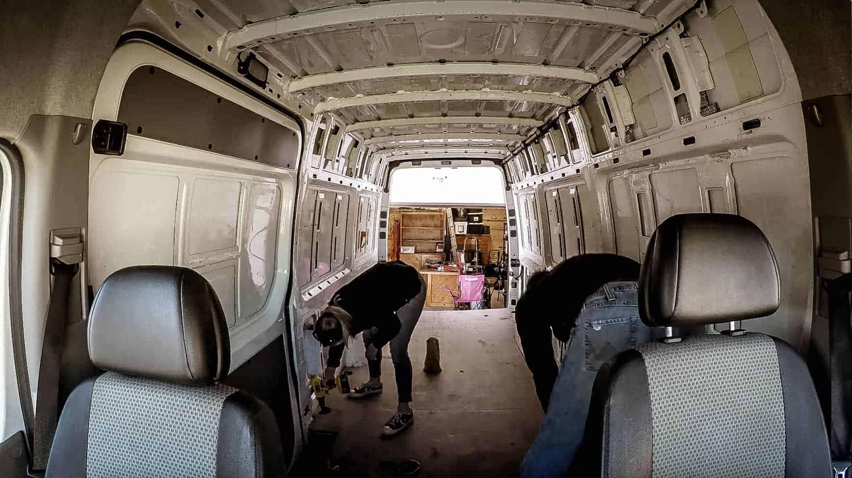 Preparing Our Campervan For Flooring-3