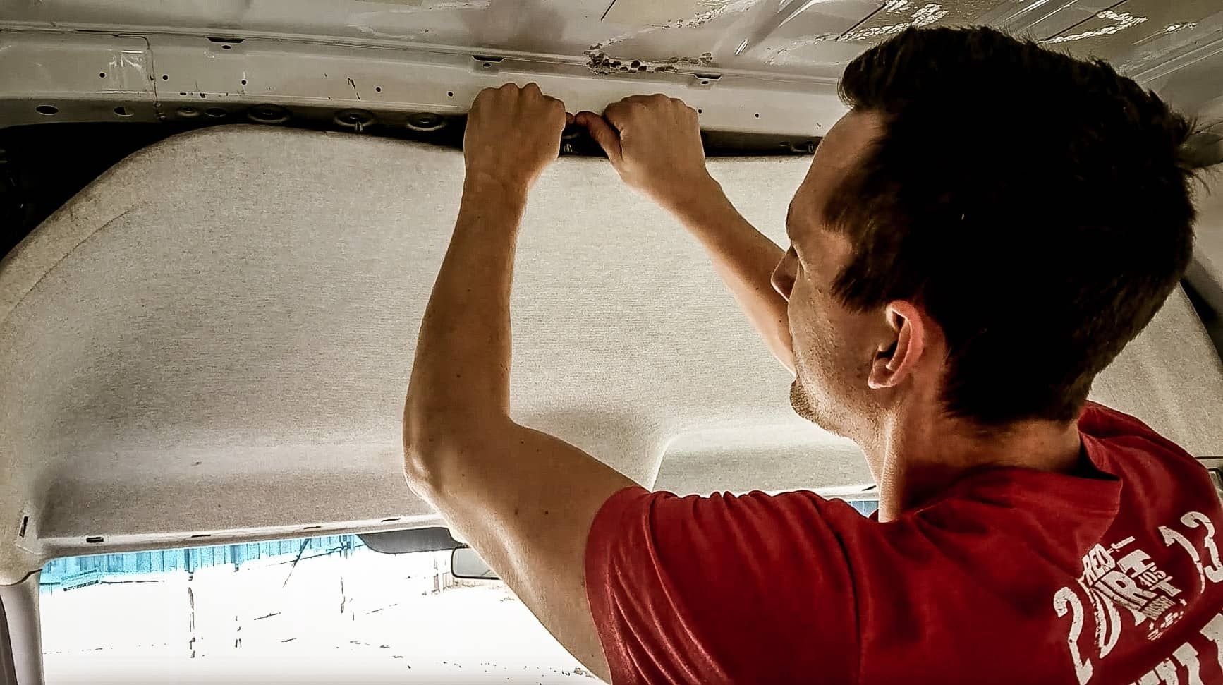 Campervan Build: Removing the Headliner in a Mercedes Sprinter