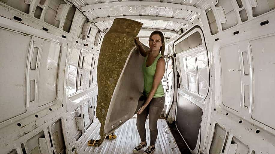 Removing the Headliner from a mercedes sprinter-5