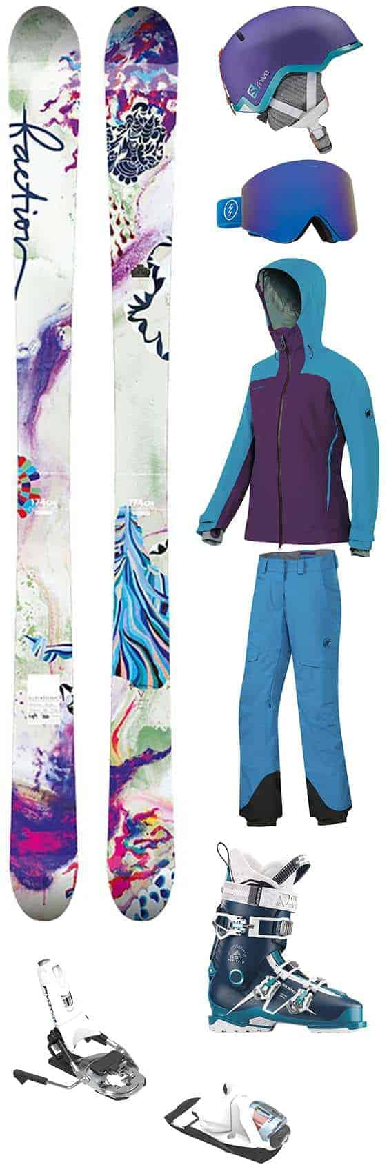 Snowboard Outfit | Ski Outfit | Snow Ski Blue Outfit | Purple Snowboard Outfit