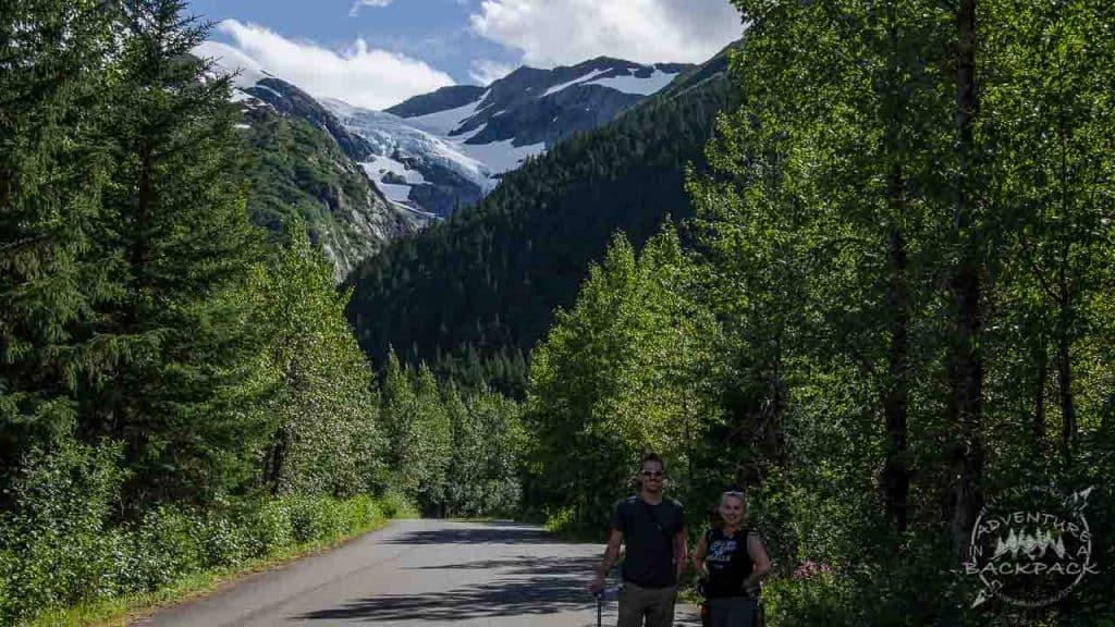 Camping near Portage Glacier