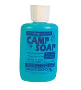 Biodegradable camping soap